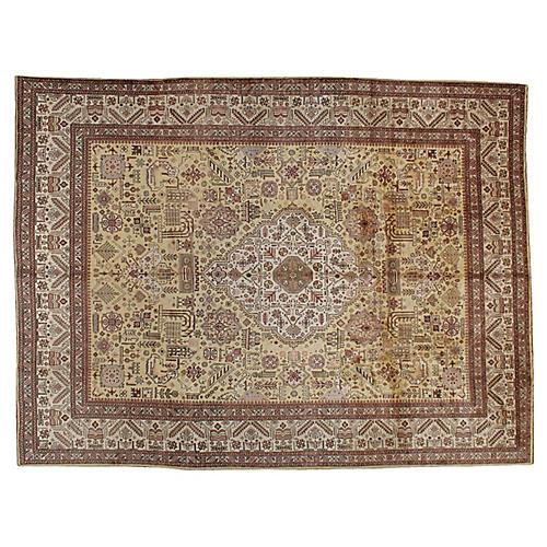 "Persian Tabriz Carpet, 9'7"" x 12'7"""