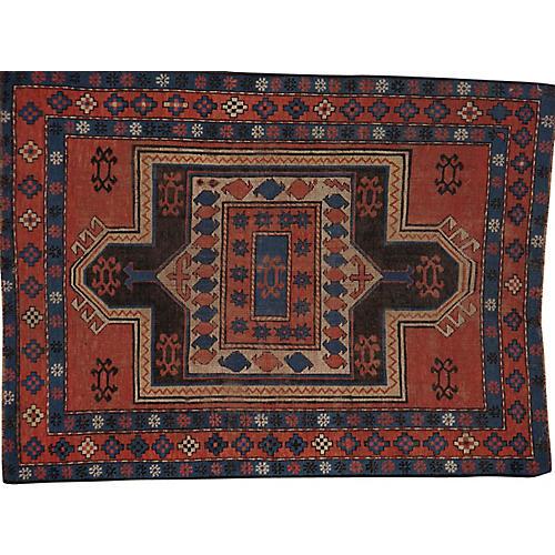 Antique Caucasian Rug, 3' x 4'
