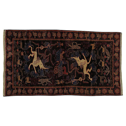 """Pictorial Rug, 3'9"""" x 6'7"""""""
