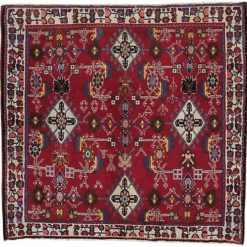 """Persian Rug, 2'1"""" x 2'2"""""""
