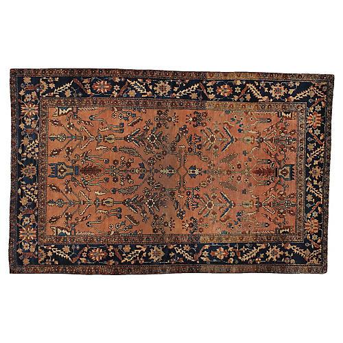 """Antique Persian Rug, 4' x 6'4"""""""