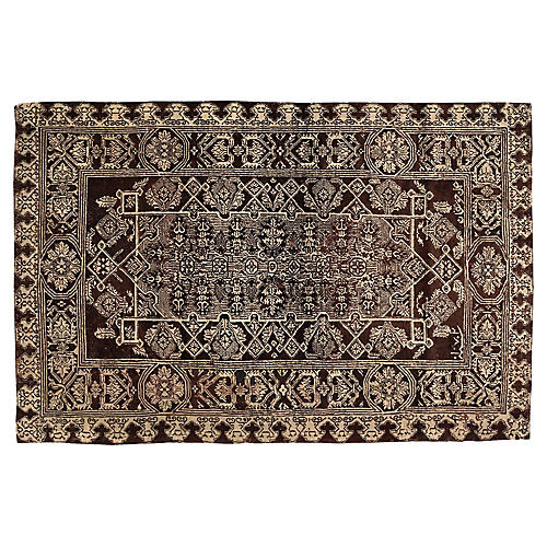 """Distressed Indian Rug, 4'3"""" x 6'7"""""""