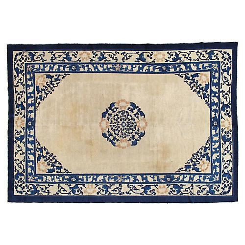 Antique Chinese Carpet, 6' x 9'