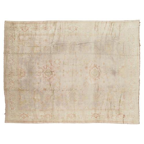 """Antique Oushak Carpet, 10'2"""" x 13'3"""""""