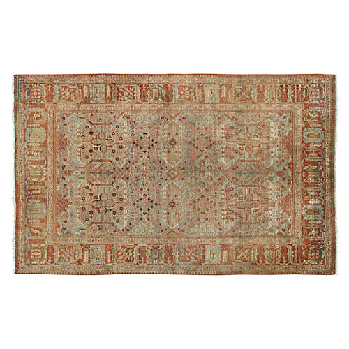 Antique Tabriz Rug, 4' x 7'