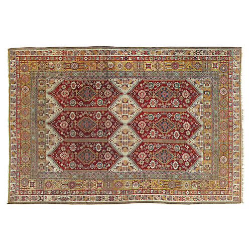 "Antique Indian Agra Rug, 5'10"" x 9'8"""