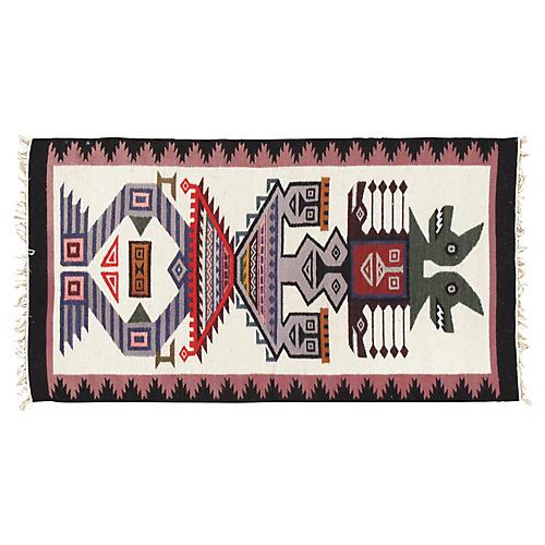 "Southwestern-Style Textile, 2'x3'9"""