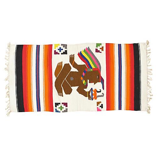 """Aztec Blanket, 2'4"""" x 4'9"""""""