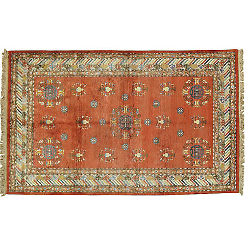 Silk Khotan Rug, 5' x 8'