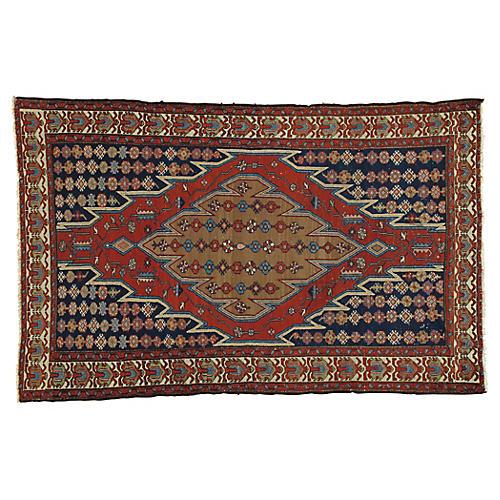 """Persian Rug, 4' x 6'5"""""""