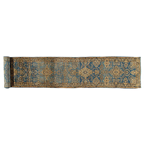 Antique Kerman Runner, 3' x 17'