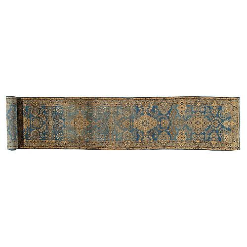 Antique Kerman Runner, 3' x 17'