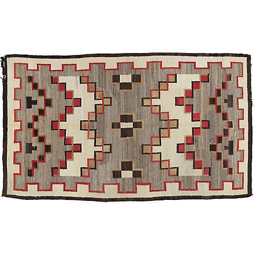 """Antique Navajo-Style Rug, 5'7"""" x 9'7"""""""