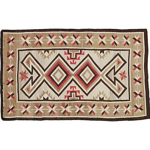 """Antique Navajo-Style Rug, 2'2"""" x 4'2"""""""