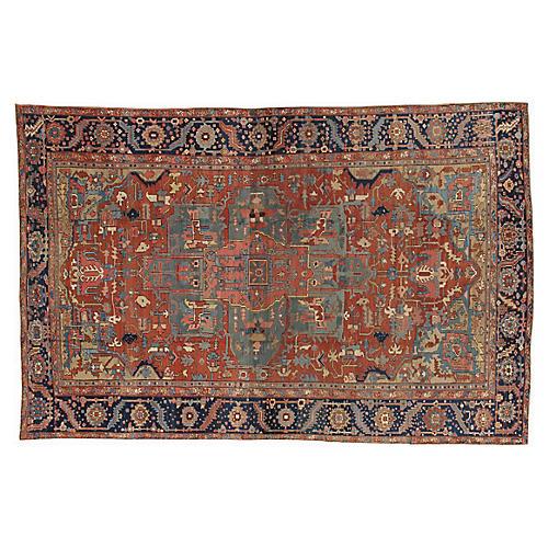 """Antique Heriz Carpet, 10'6"""" x 16'"""