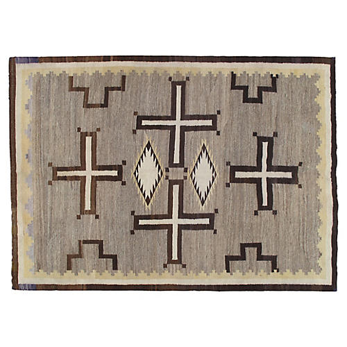 "Navajo-Style Rug, 5'9"" x 8'2"""