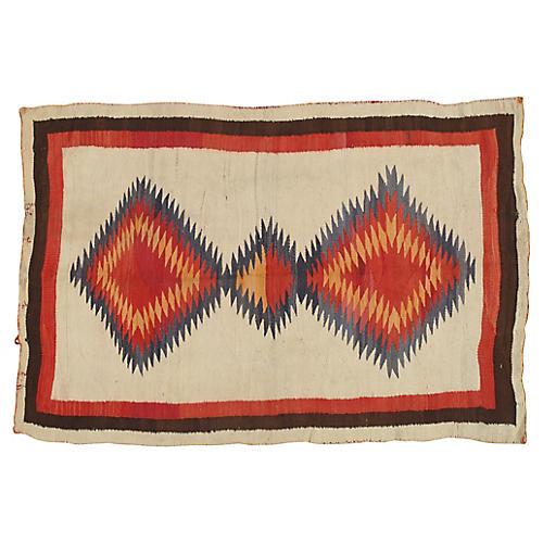 """Antique Navajo-Style Rug, 3'10"""" x 5'10"""""""
