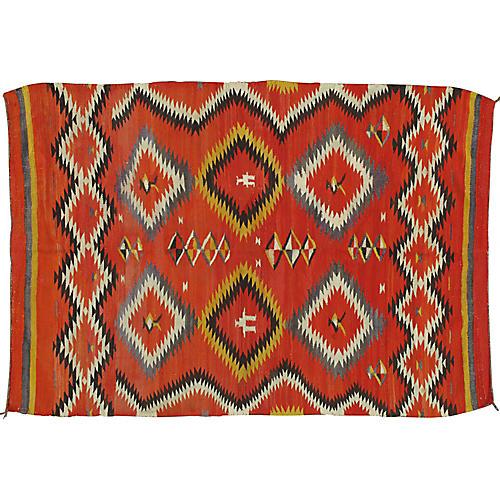 "Navajo-Style Rug, 4'6"" x 6'3"""
