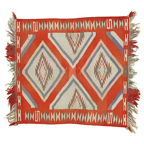 "Navajo-Style Rug, 2'4"" x 2'6"""