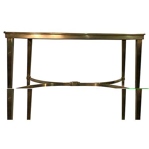 Modernist Brass Side Table