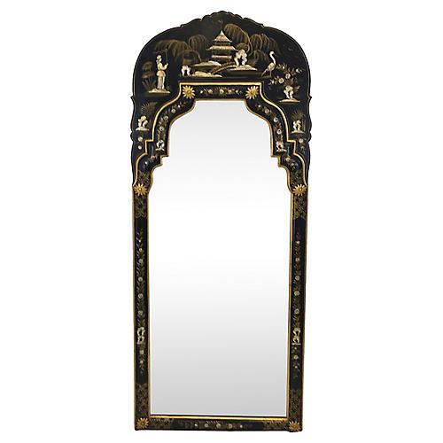 Hand Painted Italian Chinoiserie Mirror