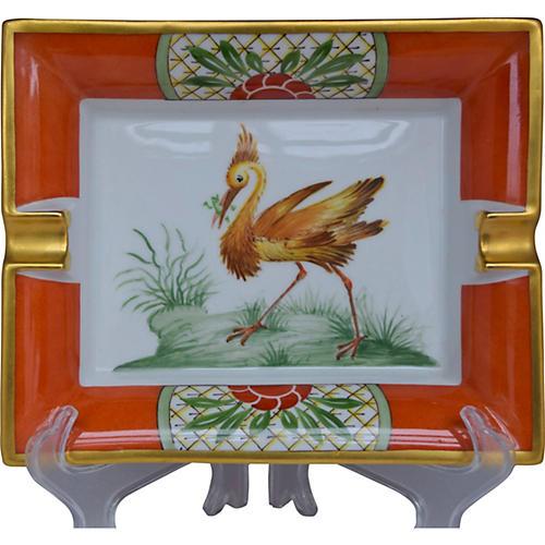 Hermès Exotic Bird Cigar Ashtray