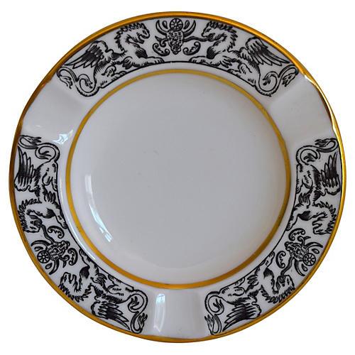 Wedgwood Black & White Griffon Ashtray