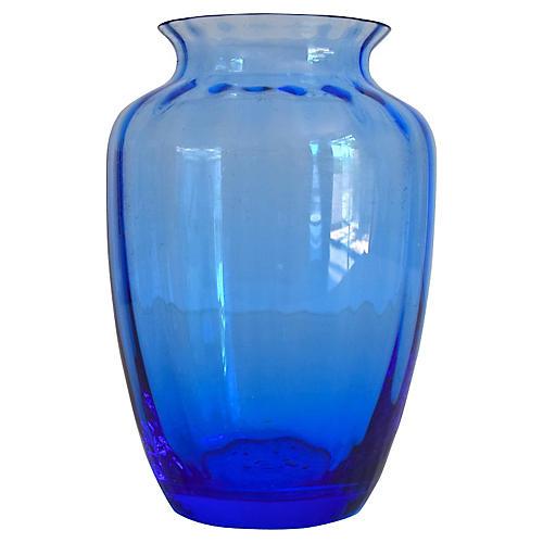 Baccarat France Blue Vase w/ Box