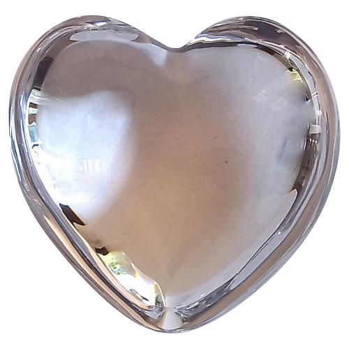 Baccarat Clear Crystal Heart w/ Box