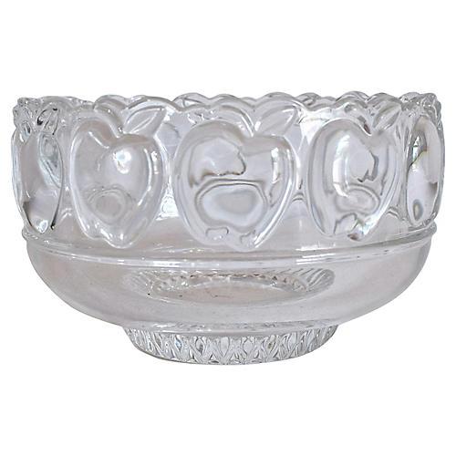 Tiffany & Co. Crystal Apple Bowl