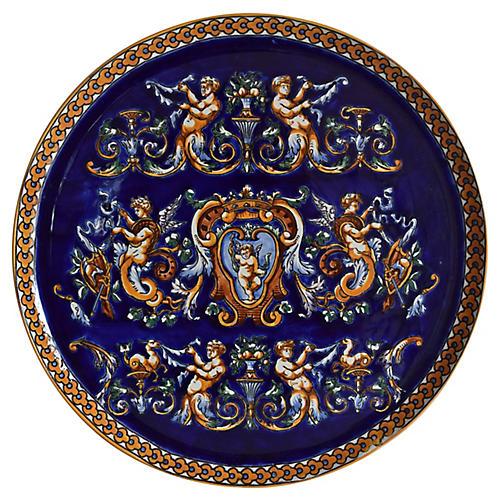 Gien France Renaissance Wall Platter