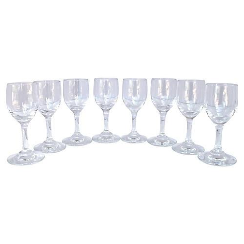 Baccarat Crystal Cordials, S/8