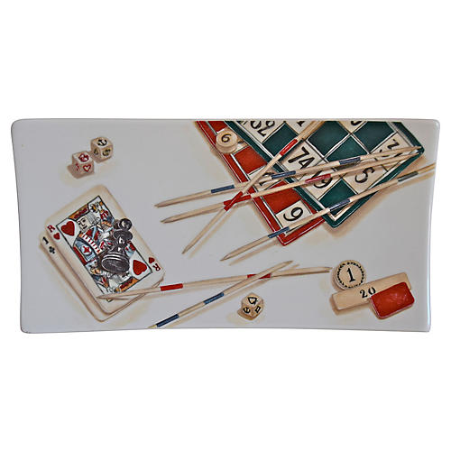 French Ceramic Gaming Plate