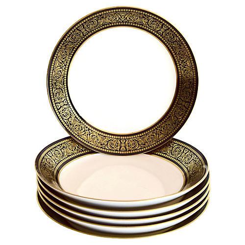 Black & Gold Bowls, S/6