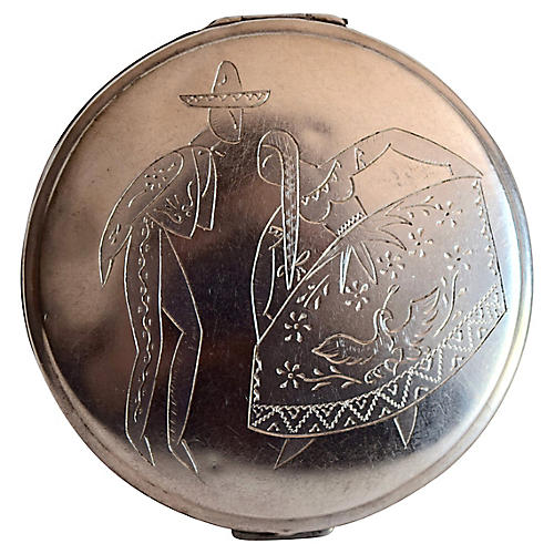 Sterling Silver Makeup Compact
