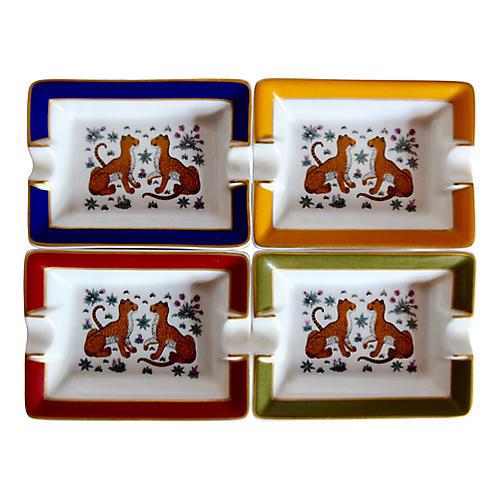 Hermès Cheetah Ashtrays, Set of 4