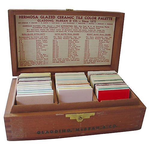 Gladding McBean Salesman's Sample Box