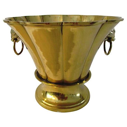 1980s Brass Cachepot