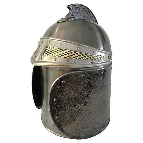 1970s Medieval Knight Helmet Ice Bucket