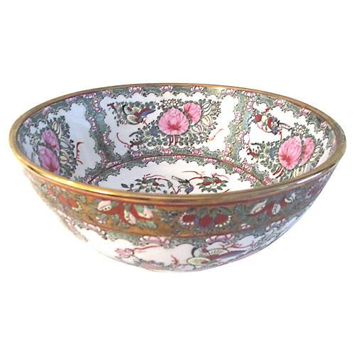 Chinese Botanical & Pheasant Bowl