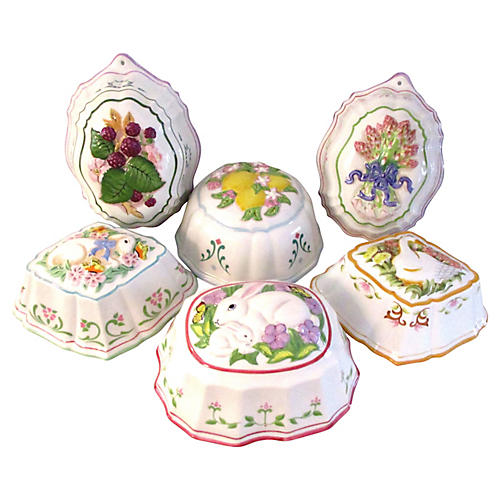 Floral Kitchen Mold Collection, S/6