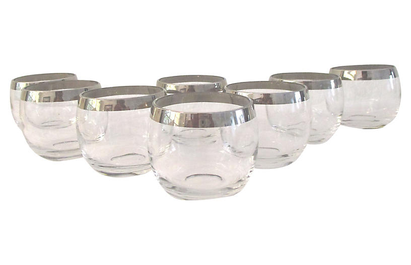 Midcentury Roly Poly Glasses, S/8
