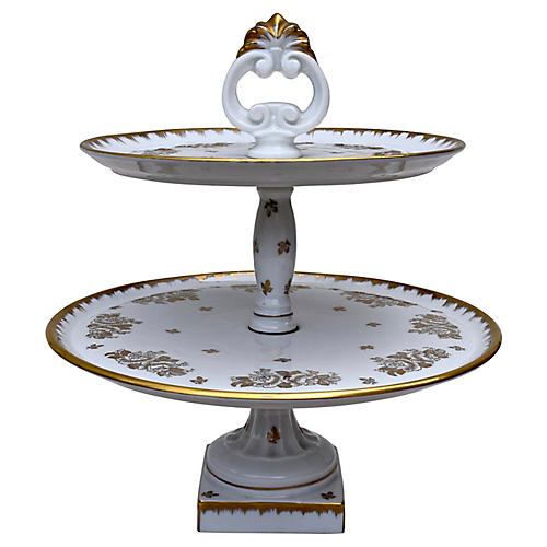 Limoges 2-Tier Dessert Server