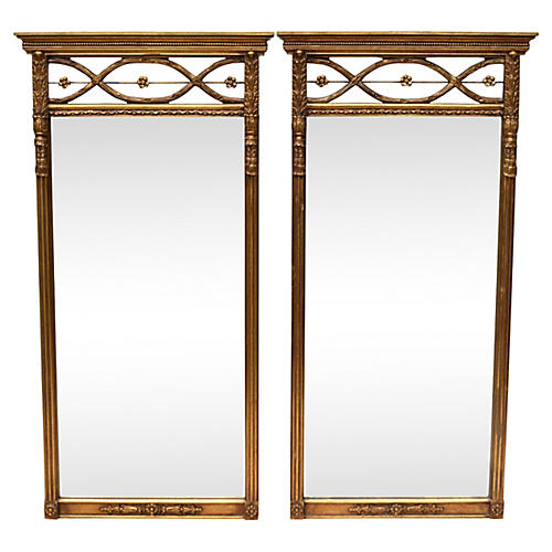 French Regency-Style Mirrors, Pair