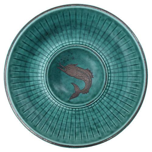 Dolphin Bowl by Wilhelm Kage