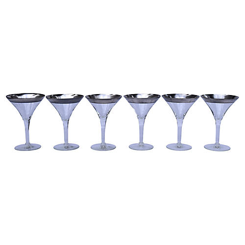 Dorothy Thorpe Champagne Coupes, S/6