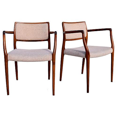 Niels Møller Dining Chairs, Pair