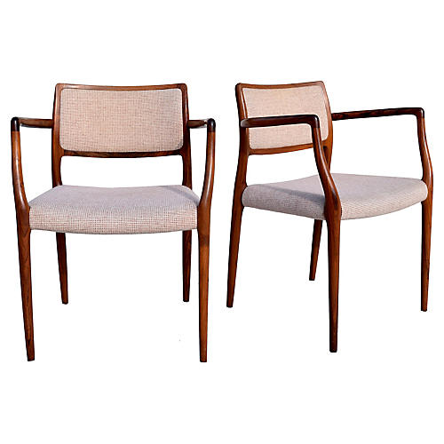 Niels Møller Dining Chairs, Pair