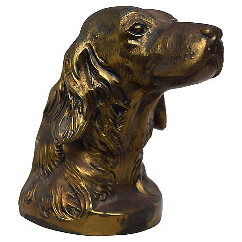Brass Sculpture of a Retriever
