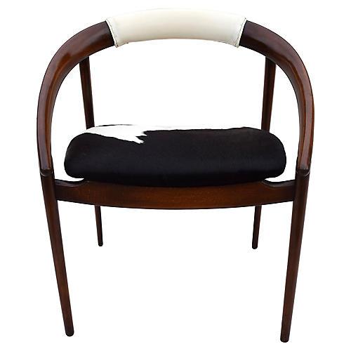 Danish Modern Cowhide Chair